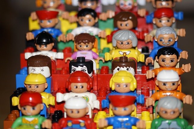 A group of toy figurines