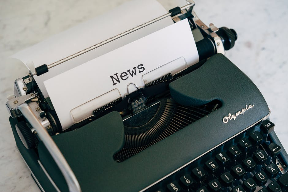 A typewriter on a table
